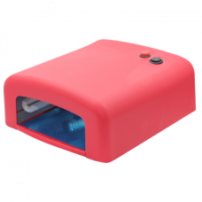 Лампа сушка для ногтей УФ UV Lamp 36W сушилка для маникюра и педикюра с таймером New-818 Red