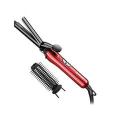 Плойка с насадкой-расческой для завивки Gemei GM-2906 Красная