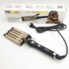 Плойка керамическая 5 волн щипцы для завивки Pro Mozer MZ-6618