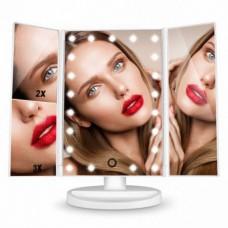Зеркало косметическое с LED подсветкой  для макияжа Superstar Magnifying Mirror SMM-003 White