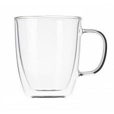 Чашка 400 мл с двойными стенками двойным стеклом A-PLUS A-7008