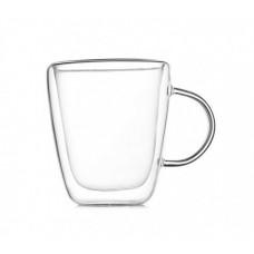 Чашка 300 мл с двойными стенками двойным стеклом A-PLUS A-7012
