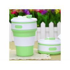 Чашка силиконовая складная Collapsible 1051 350 мл Зеленая