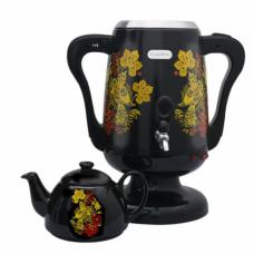 Электрический самовар стальной с чайником Lexical LSV 0801 Black