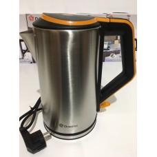 Чайник электрический из нержавеющей стали дисковый 2 л 1500 Вт электрочайник Domotec DT-903