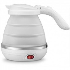 Чайник электрический складной силиконовый портативный электрочайник 750 мл SUNROZ Foldable Kettle 220В 800Вт Белый