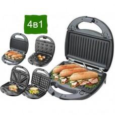 Гриль, бутербродница, вафельница, орешница, сэндвичница 4в1 Granthoff GT-780 1200 Вт мультимейкер