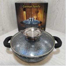 Гусятница 2.5 л утятница гранитная жаровня казан German Famili GF-053-20 2.5 л