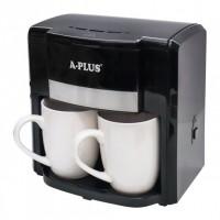 Кофеварка для кофе или чая 2 порции капельная с 2 чашками A-PLUS CM-1549