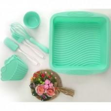 Набор кухонных принадлежностей для выпечки A-PLUS силиконовый 1951 G Зеленый