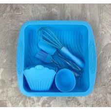Набор кухонных принадлежностей для выпечки A-PLUS силиконовый 1951 G Голубой