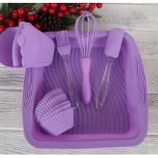 Набор кухонных принадлежностей для выпечки A-PLUS силиконовый 1951 G Фиолетовый