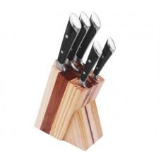 Набор ножей 6 предметов на подставке из дерева Benson BN-404
