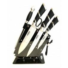 Набор ножей 9 предметов из нержавеющей стали с подставкой Benson BN-405