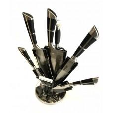Набор ножей 9 предметов из нержавеющей стали с подставкой Benson BN-406