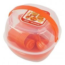 Набор посуды для пикника 48 предметов компактный Stenson Red
