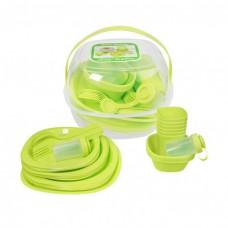 Набор посуды для пикника 48 предметов компактный Stenson Green