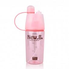Бутылка с распылителем спортивная для воды и напитков New B 400 мл Pink