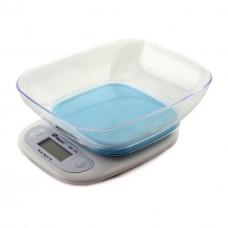 Весы кухонные электронные с чашей до 7 кг Domotec MS-125 Blue