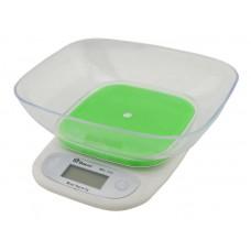 Весы кухонные электронные с чашей до 7 кг Domotec MS-125 Green