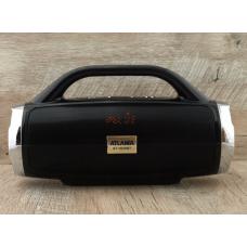Колонка портативная FM акустическая Atlanfa AT-1829BT 12W Super Bass speaker AUX Bluetooth MP3 microSD/TF + USB и функция Power Bank