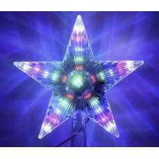 Звезда на елку пластиковая разноцветная 18х15 см Light Technology Limited