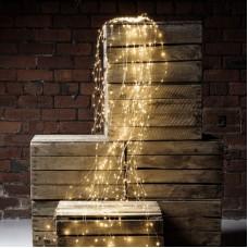 Гирлянда Лучи росы или Конский хвост 2 м 200 LED 10 нитей Light Technology Limited Золотистая