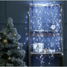 Гирлянда Лучи росы или Конский хвост 2 м 200 LED 10 нитей Light Technology Limited Белая