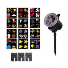 Проектор калейдоскоп из 12 узоров анимационных новогодних персонажей LIGHTER