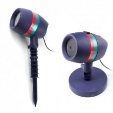 Проектор лазерный звездный уличный наружный внутренний Star Shower Motion 2 типа крепления