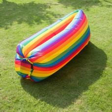Гамак надувной Air Rainbow, надувной мешок, надувной лежак кресло аэролежак Радуга